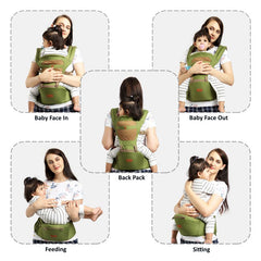 1st Step 5 In 1 Hip Seat Baby Carrier - Green