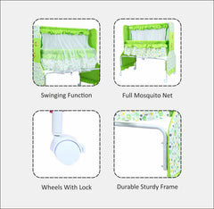 1st Step Cradle With Swing And Mosquito Net-Green