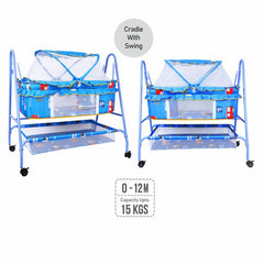 1st Step Cradle With Swing And Mosquito Net - Blue