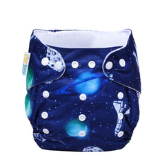 1st Step Size Free-size Adjustable, Washable and Reusable Diaper with Diaper Liner (Space)