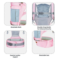 1st Step 5 In 1 Hip Seat Baby Carrier - Pink