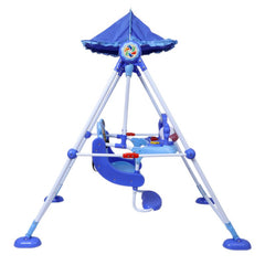 1st Step Swing With 3 Point Safety Harness And Adjustable Canopy - Blue
