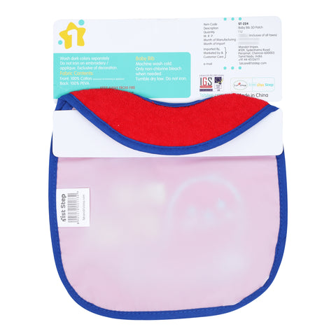 1st Step Baby Bib With 3D Patch-Red