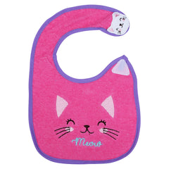 1st Step Baby Bib With 3D Patch-Pink