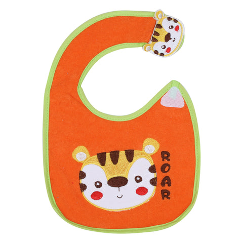 1st Step Baby Bib With 3D Patch-Orange