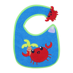 1st Step Baby Bib With 3D Patch-Blue