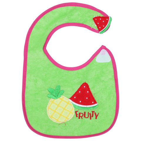1st Step Baby Bib With 3D Patch-Green
