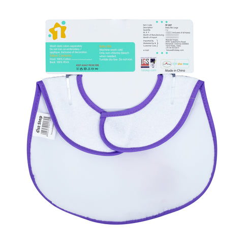 1st Step Large Baby Bib-Purple
