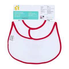1st Step Large Baby Bib-Red
