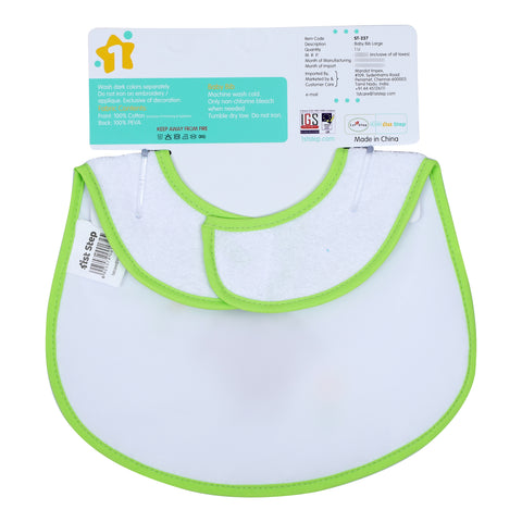 1st Step Large Baby Bib-Green