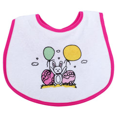 1st Step Large Baby Bib-Pink