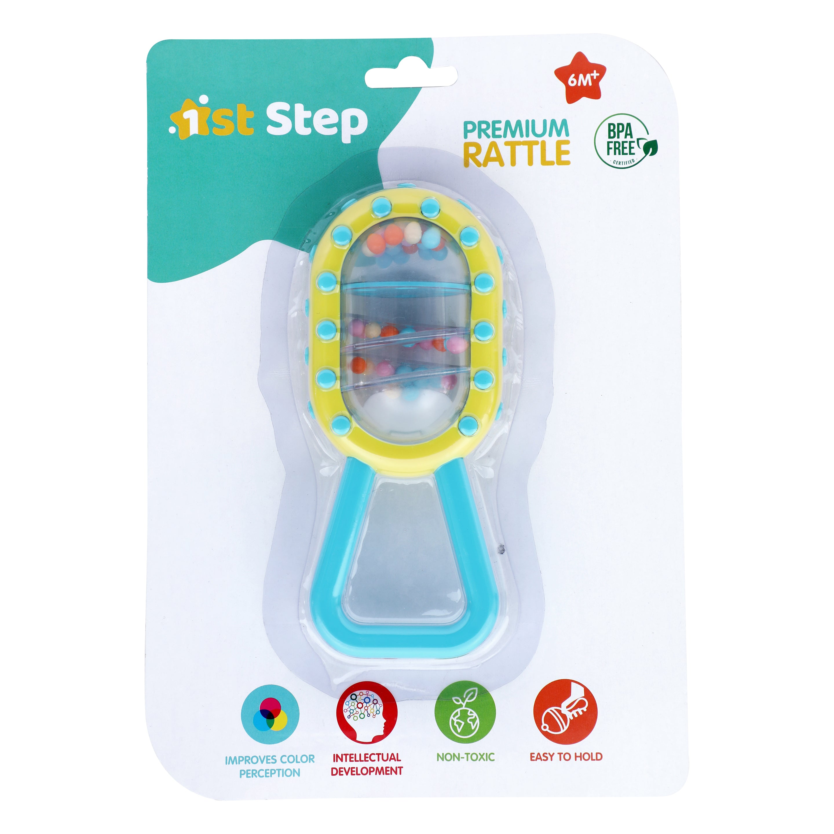 1st Step Premium Shaking Rattle - Blue