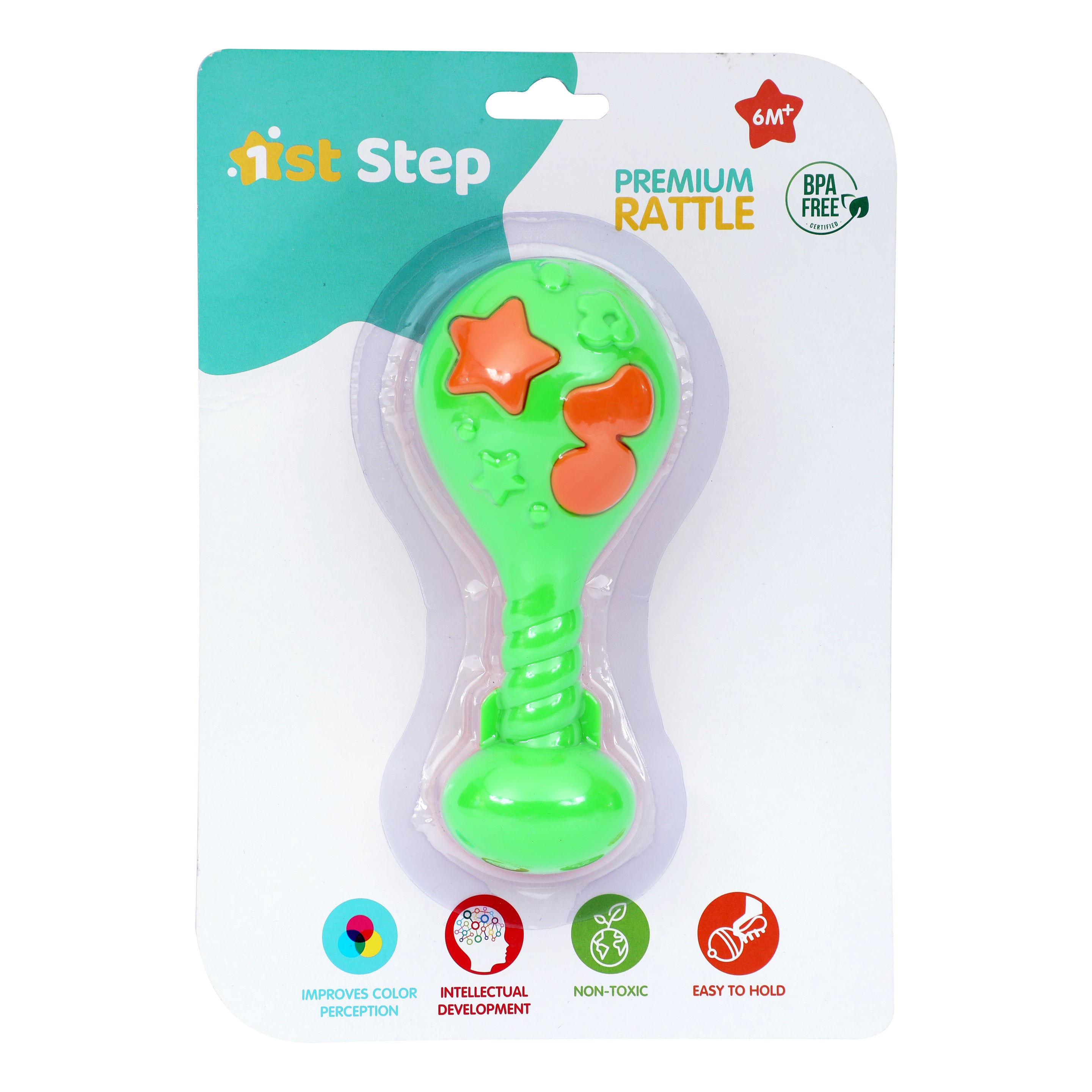 1st Step Premium Maracus Rattle - Green