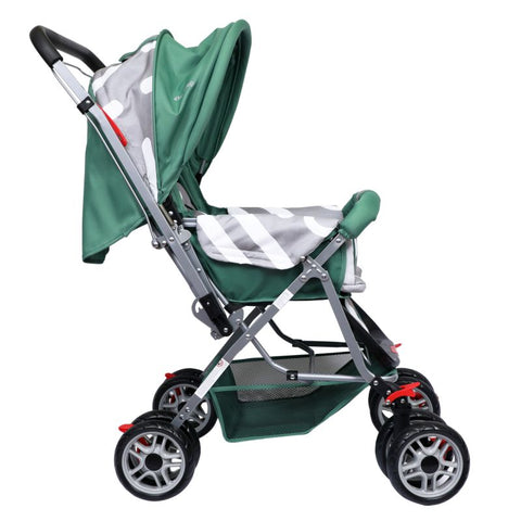 1st Step Yoyo Baby Stroller with 5 Point Safety Harness and Reversible Handlebar Stroller-Green