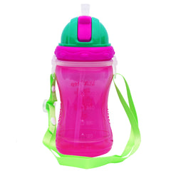 1st Step Spill Proof BPA Free Polypropylene Straw Sipper With Strap-Pink