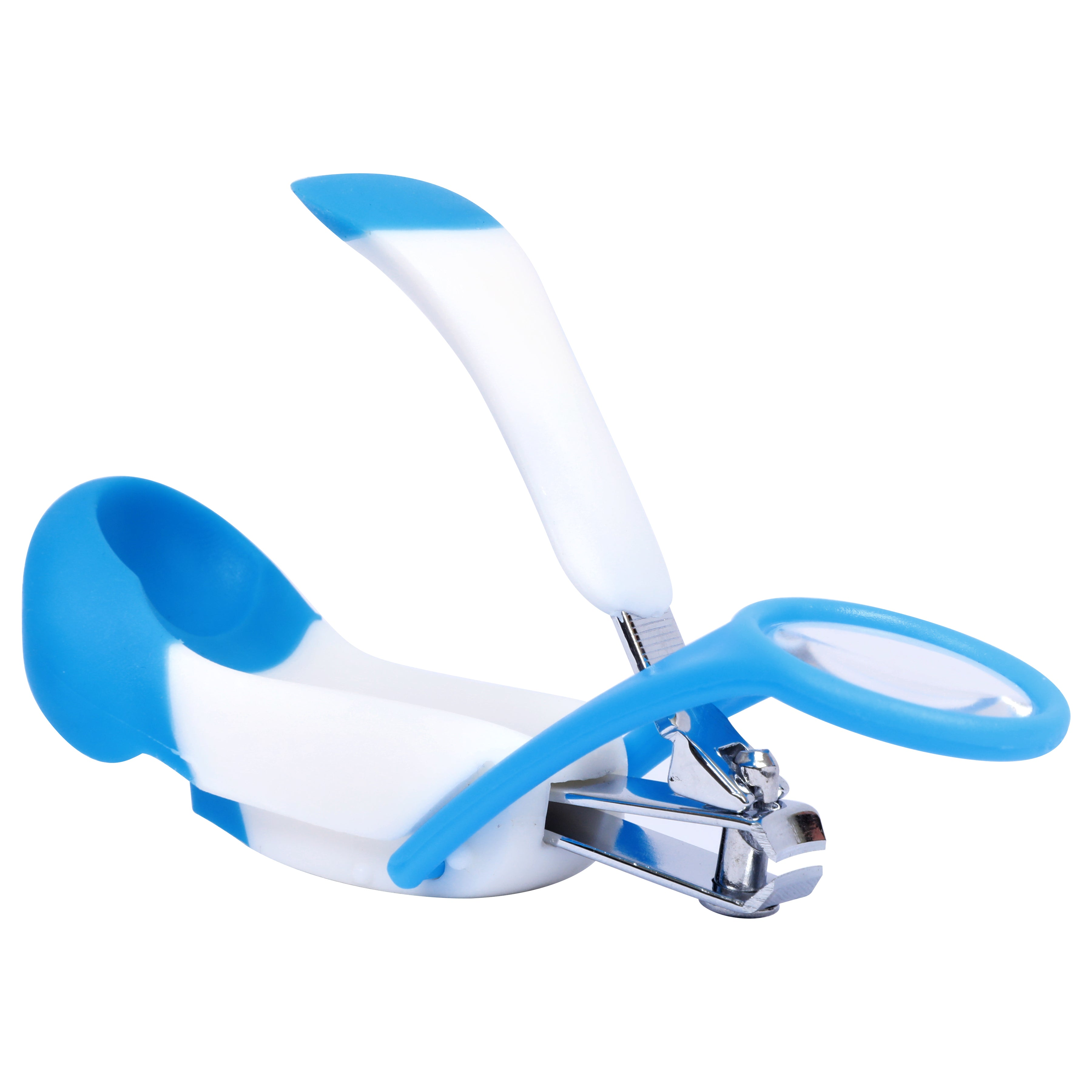1st Step Easy Grip Baby Nail Clipper With Magnifying Glass-Blue