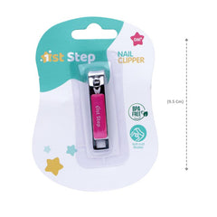 1st Step Easy Grip Baby Nail Clipper-Pink