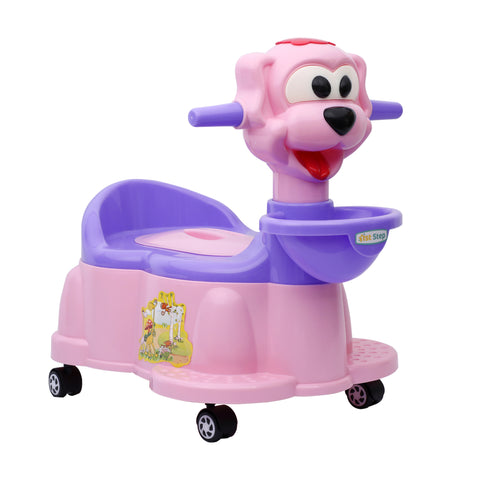 1st Step Baby Musical Potty Chair With Wheels Doggy Design - Pink
