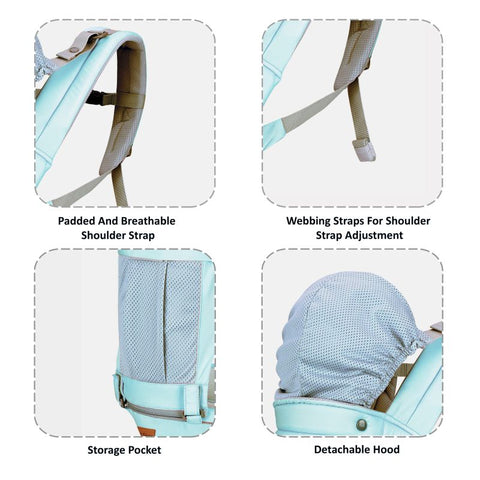 1st Step 5 In 1 Hip Seat Baby Carrier - Blue