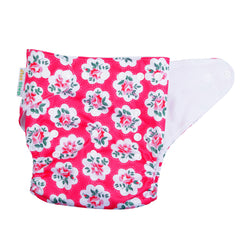 1st Step Size Free-size Adjustable, Washable and Reusable Diaper with Diaper Liner (Flower)