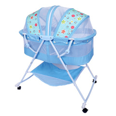1st Step Bassinet Cum Rocker With Mosquito Net-Blue