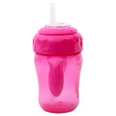 1st Step 210ml Birdie BPA Free Non-SpiII Interchangeable Sipper / Sippy Cup with Soft Silicone Spout And Straw-Pink