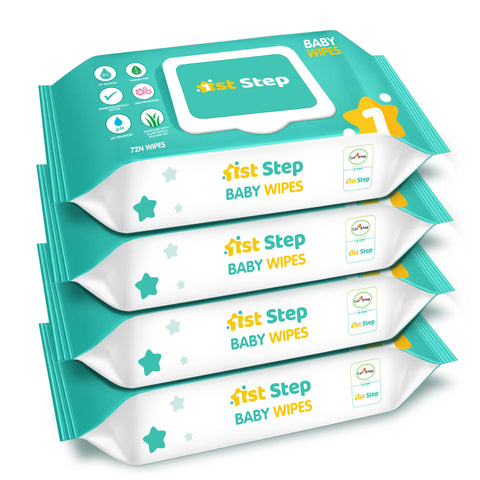 1st Step Baby Wet Wipes With Lid Enriched With Aloe-Vera And Jojoba Oil  (288 Wipes)