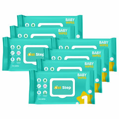 1st Step Baby Wet Wipes With Lid Enriched With Aloe-Vera And Jojoba Oil  (504 Wipes)