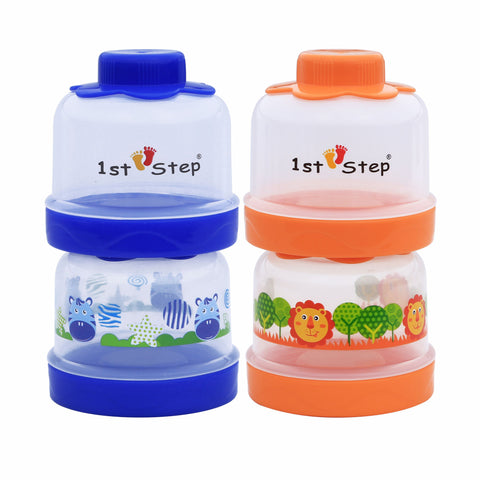 1st Step BPA Free Polypropylene 4-tier Milk Powder Container