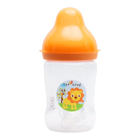 1st Step 125ml BPA Free Polypropylene Feeding Bottle - Orange