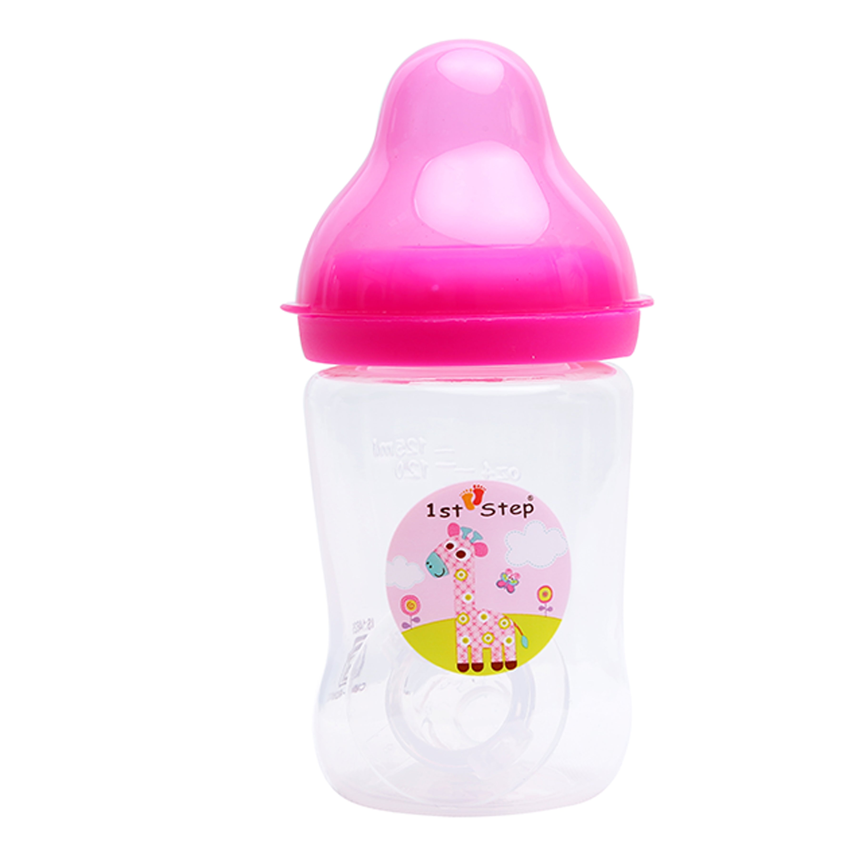 1st Step 125ml BPA Free Polypropylene Feeding Bottle - Pink