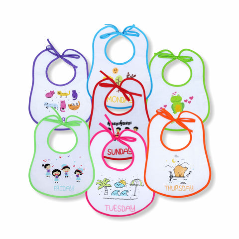 1st Step Baby Bibs Large - Pack Of 7
