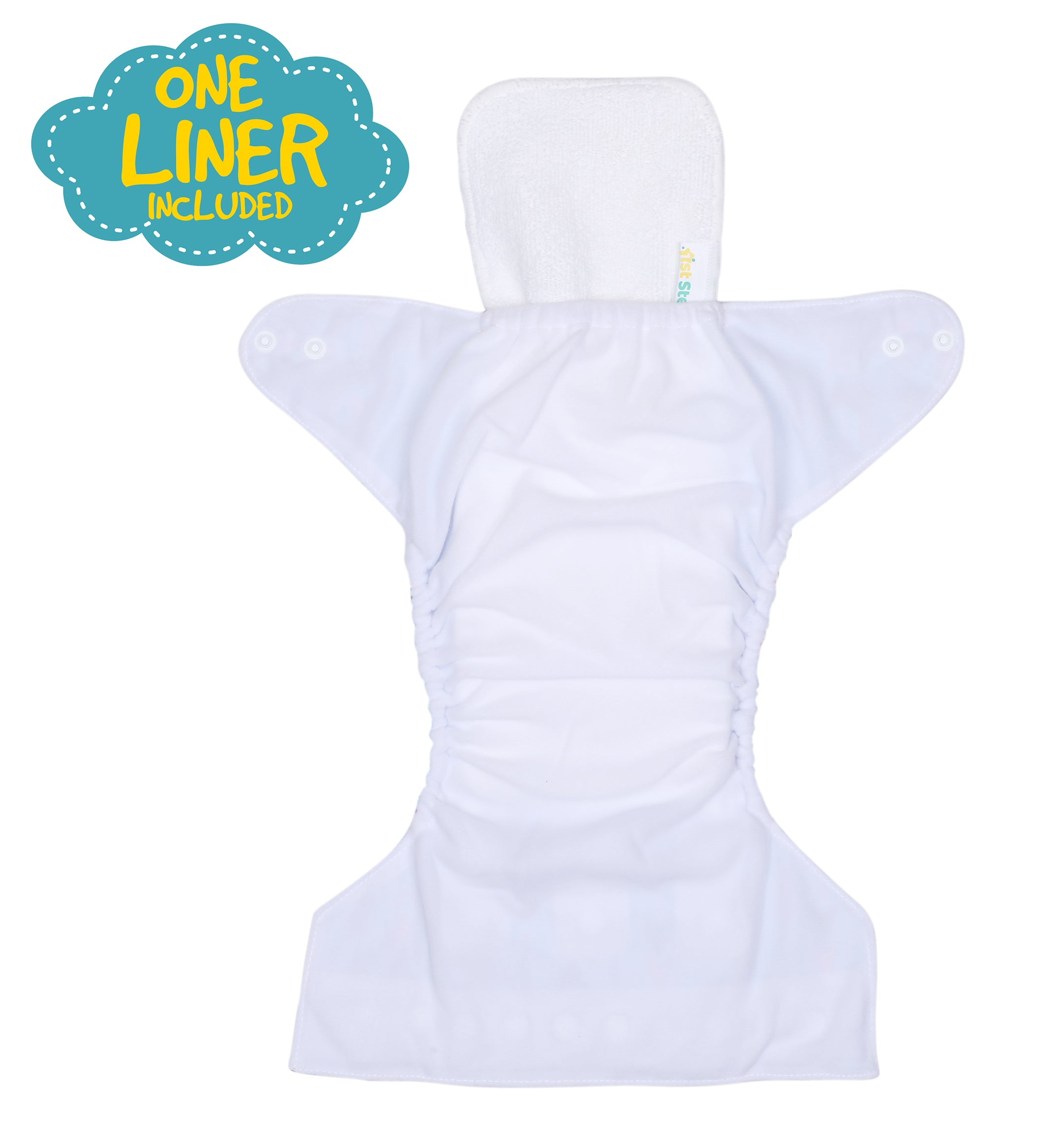 1st Step Size Free-size Adjustable, Washable and Reusable Diaper with Diaper Liner (Flamingo)