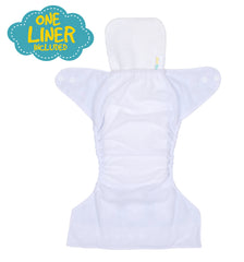 1st Step Size Free-size Adjustable, Washable and Reusable Diaper with Diaper Liner (Orange)