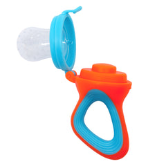 1st Step BPA Free Silicone Fruit and Food Nibbler and Feeder-Orange