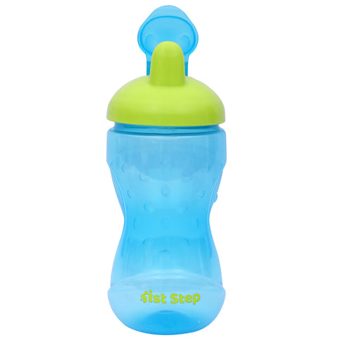 1st Step BPA Free Hard Spout Grippy Cup-Blue