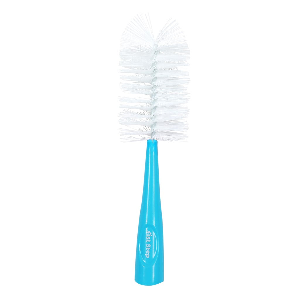 1st Step Bottle and Nipple Cleaning Brush with Nylon bristles for Easy Cleaning (Blue)