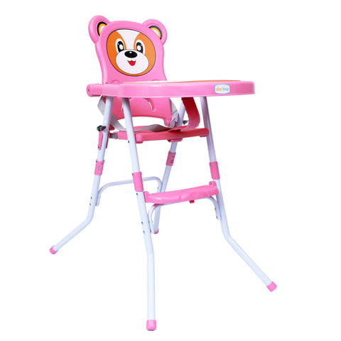 1st Step Convertible High Chair Cum Booster Seat-Pink