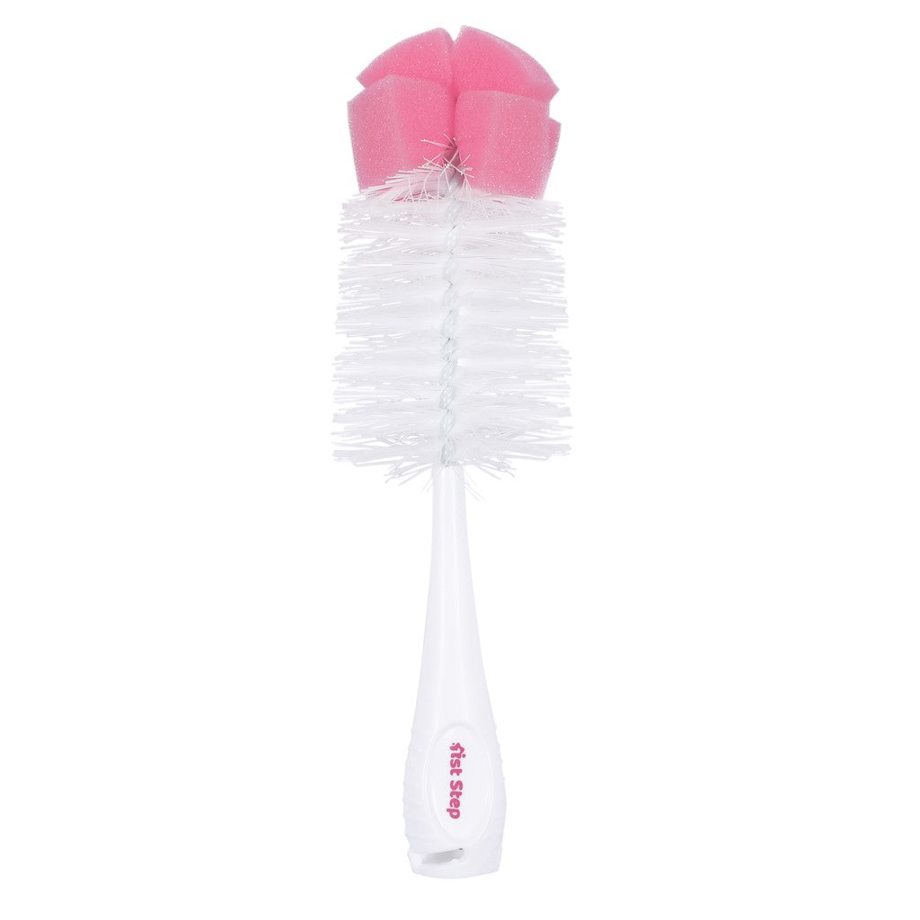 1st Step BPA Free Bottle And Nipple Cleaning Brush With Suction Base-Pink