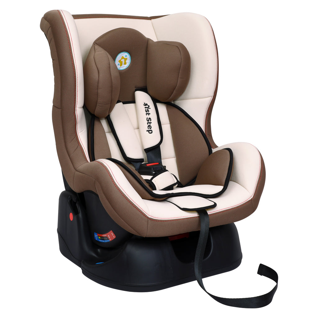 1st Step Convertible Car Seat With 5 Point Safety Harness-Brown