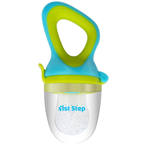 1st Step BPA Free Silicone Fruit and Food Nibbler and Feeder-Blue