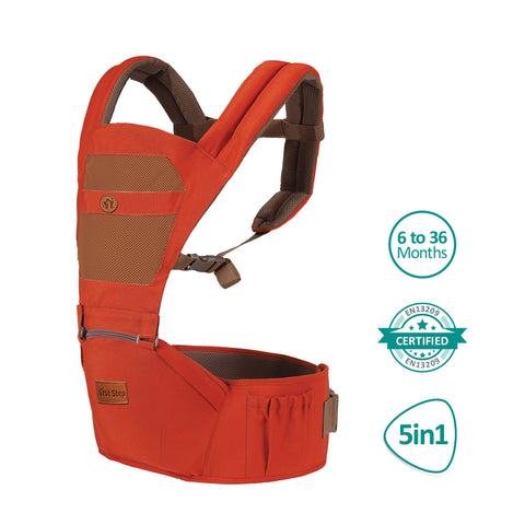 1st Step 5 In 1 Hip Seat Baby Carrier - Orange