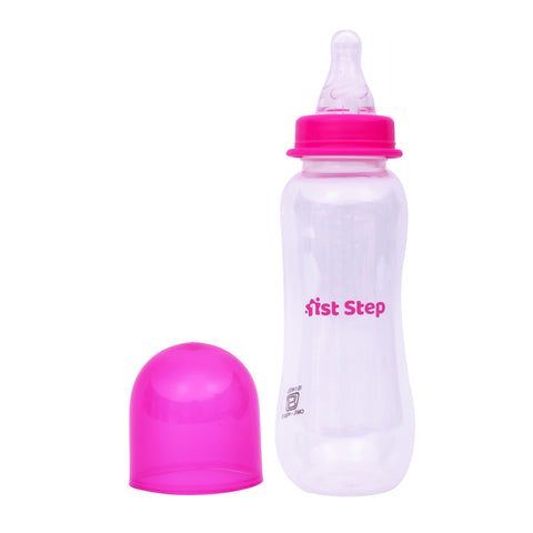 1st Step 250ml BPA Free Polypropylene Feeding Bottle - Pink