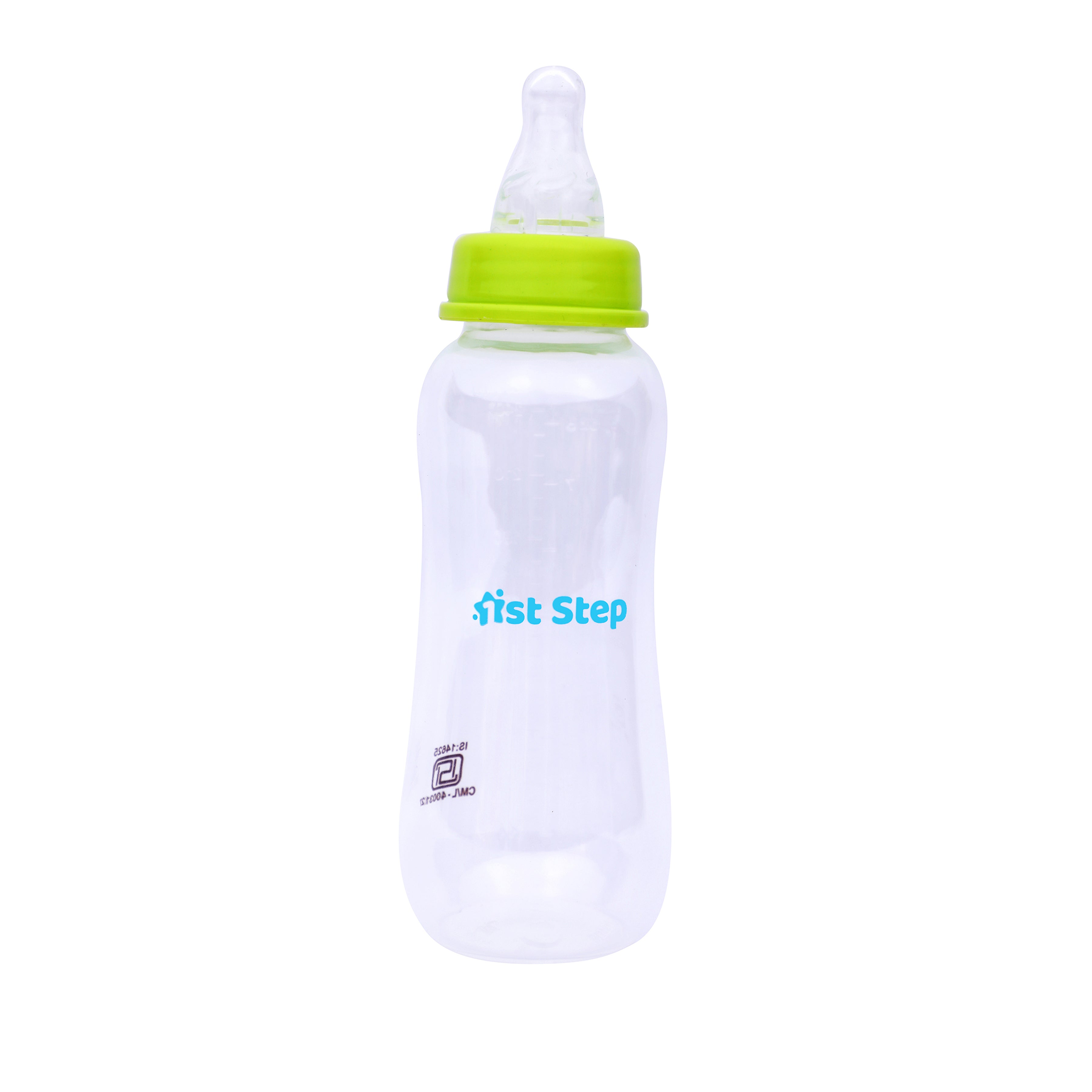1st Step 250ml BPA Free Polypropylene Feeding Bottle With Rattle Hood - Blue