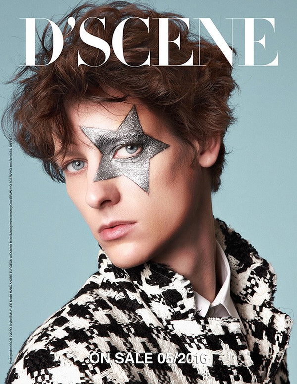 D'Scene Fashion Magazine Cover inspired by David Bowie