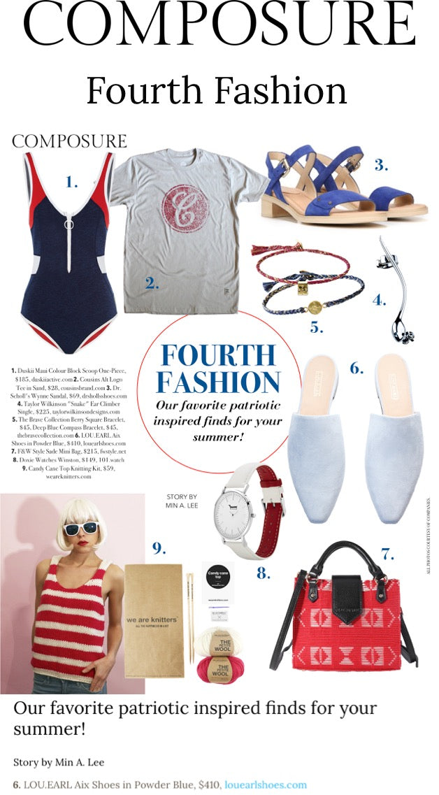 Composure Magazine's favorite patriotic inspired finds for summer including our Aix Mules