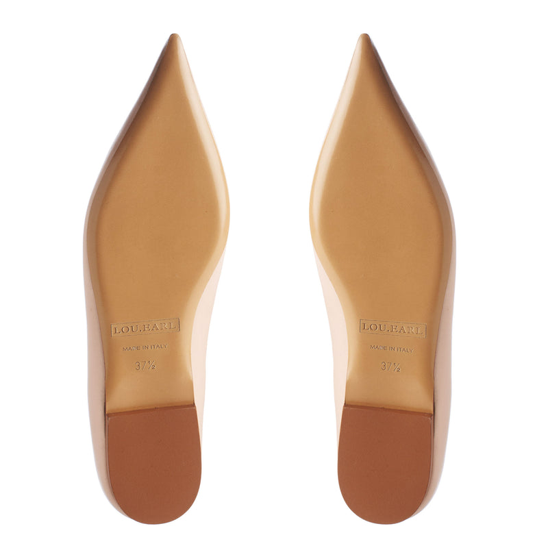 pointed toe shoes with leather sole for ladies high quality fashion