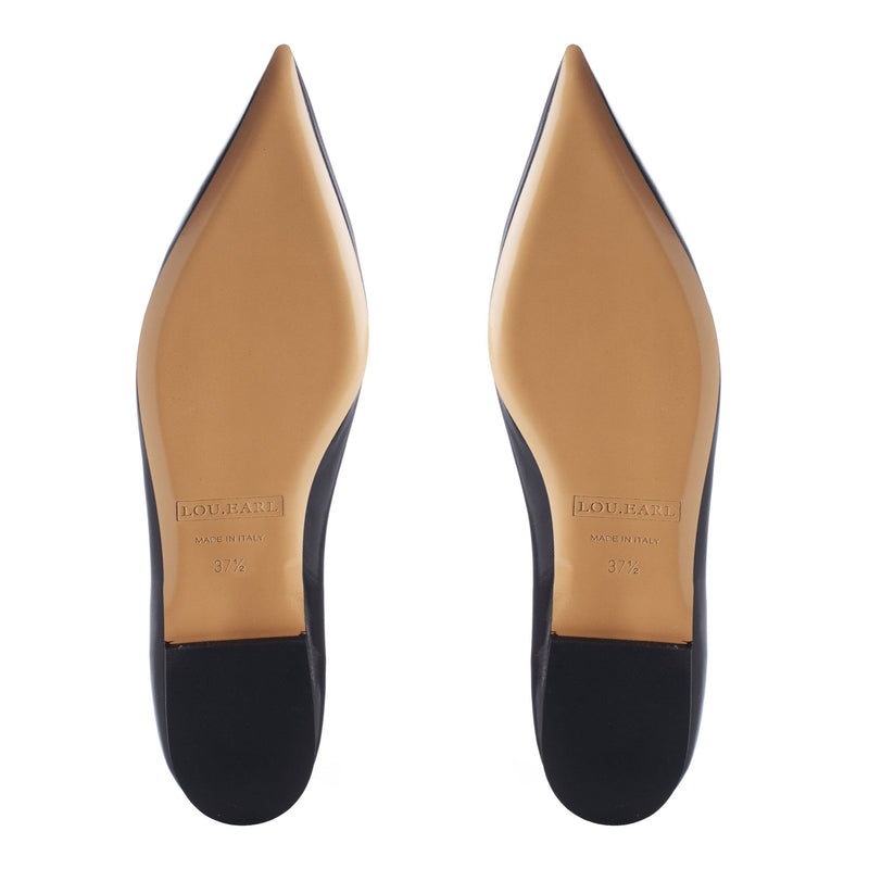 leather outsole womens high fashion leather pointed flat shoes