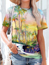 Hawaiian Vacation Coconut Woman T-Shirt Colorful / S
