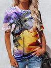 Watercolor Hawaiian Vacation Woman T-Shirt Colorful / S